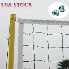 New Volleyball Net W/ Steel Cable PE Rope Official Size Outdoor Indoor Beach USA