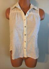 • Women's Size Small Mudd Sleeveless Blouse Tank Top Button Shirt Nice!