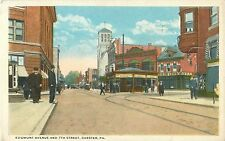 View Of The Corner Of Edgmont Avenue & 7th Street, Chester PA Pennsylvania 1920