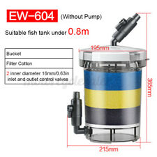 Transparent Aquarium Fish Tank External Canister Filter Silent Bucket   M