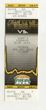 Tampa Bay Devil Rays Vs Toronto Blue Jays April 12 2002 Unused Suite Ticket