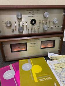 RARE Vtg PHASE LINEAR 400 Amplifier & 4000 Pre-Amplifier Audio Stereo Equipment