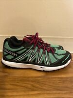 Salomon X-Tour City Trail Running Shoes Lace Up Sneakers Green Purple Womens 11