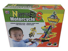 New Kids Children B/O Nuttiness Motorcycle Stunt Bike Race Track Sound Toy Set