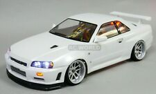 1/10 RC Car BODY Shell NISSAN SKYLINE R34 190mm *Unpainted*  CLEAR