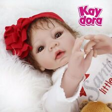 Reborn Baby Girl Dolls Soft Vinyl Silicone Baby Doll Newborn Birthday Gifts 22""