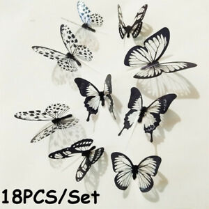 Home Decoration Kids Room 3D Butterfly Decals Wall Art Mural Wall Stickers