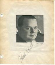 ROSCOE FATTY ARBUCKLE Signed Vintage Album Page w/ Photo Silent Film Actor JSA