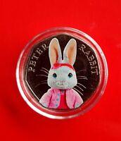 UNCIRCULATED 2016 Peter Rabbit Beatrix Potter lily bobtail 50p coin