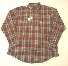 VAN HEUSEN - Classic Fit - Men's Large Shirt -  Brown Checkered - NWT(v)