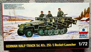 ESCI 8022 - german half track rocket launcher - scale 1/72