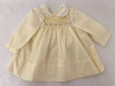 Vintage Baby Girl Dress Size 12 Months Yellow Polly Flinders Ruffled Pleated