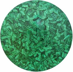 """12"""" Marble side Table Top Malachite Inlay Handicraft Work For Room Decor"""