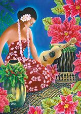 6 Hawaiian Holiday Cards - HAWAII Christmas - Holiday Hula