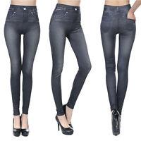 Women Denim Jeggings Skinny Tight Long Jeans Stretch Denim Pencil Pants Trousers
