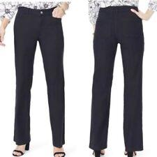 NYDJ Stretch Linen Blend Black Pants NWT Size 10P