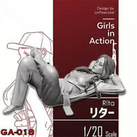 1/20 RITA Girls in Action Resin Model Kits Unpainted GK Unassembled