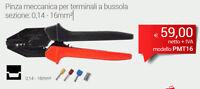INTERCABLE PMT16 Pinza meccanica per terminali a bussola sezione: 0,14 - 16mm²