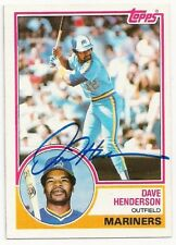DAVE HENDERSON - SIGNED/AUTO/AUTOGRAPH ON A 1983 BASEBALL CARD - (DECEASED)