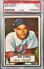 1952 TOPPS Bud Byerly #161 PSA 7 NM  Low Pop