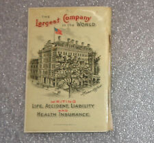 antique celluloid calendar address booklet advertising Aetna Insurance