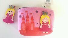 Childrens GIRLS Felt pink Purse & brooch.Princess.ideal stocking filler