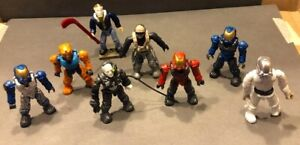 loose lot MEGA CONSTRUX figures and parts MOTU TMNT HALO  (casey jones complete)