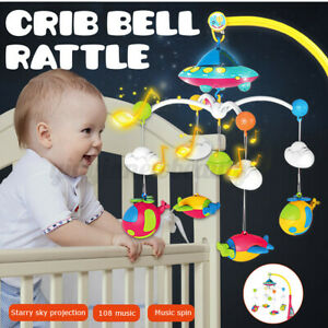 Crib Mobile Musical Bed Bell Baby Newborn Infant Bedroom Hanging Music Toys Gift