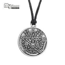 Antique Tetragrammaton Pentagram Pendant Charm Necklace Wiccan Talisman Jewelry