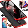 OnePlus 6T 360Grad Stoßfest Matt Cover Schutz Hülle Etui Tasche Case + Glasfolie