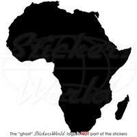 AFRIKA Kartenform AFRIKANISCHE Silhouette Vinyl Sticker Aufkleber JEDE FARBE