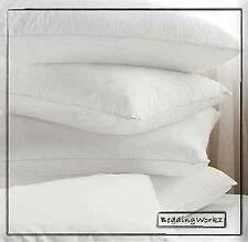 4 x Goose Feather & Down Pillows + Pillow Protectors **Non-Alergenic**