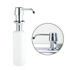 10.6'' Plastic+Stainless Steel Kitchen Sink Mounted Liquid Soap Dispenser