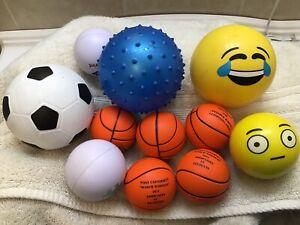Lot Of 11 Children's Safe Soft T-ball Baseball Practice Balls