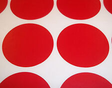 300 Red 6mm Colour Code Round Stickers / Sticky ID Labels