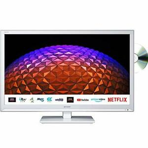 Sharp 1T C24BE0KR1FW 24 Inch Smart TV, HD Ready LED Display with DTS Studio