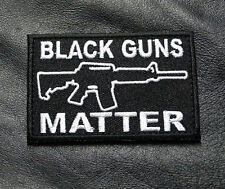 BLACK GUNS MATTER MORALE 3 INCH MILSPEC ARMY HOOK  PATCH  (B/W) BY MILTACUSA