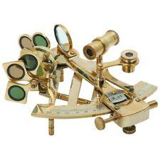Sextant Decorative Nautical Tool Sailing Collection Bookshelf or Desk Brass