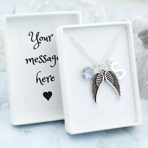 Angel Wing Necklace, Personalised Jewellery, Sympathy Gifts, Comfort For Grief