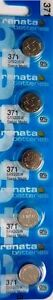 371 RENATA SR920SW D371 (5 Piece) Watch Battery Free Shipping Authorized Seller