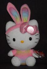 TY HELLO KITTY RAINBOW BUNNY EARS BEANIE BABY -  MINT with MINT TAG