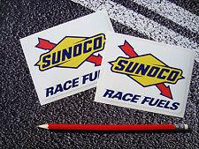 SUNOCO RACING FUEL STICKERS VINTAGE STYLE 11cm X 8cm  F1 TARGA FLORIO FORMULA 1