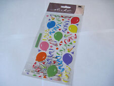 Scrapbooking Stickers Sticko Party Favors Balloons Confetti Twirls Colorful More