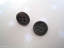 *cute Dark Wood Button* Stud Earrings 15mm Wooden Gift Bag