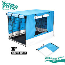 "36"" Pet Dog Puppy Cage Collapsible Cover Crate Kennel Cat Rabbit Mesh Window BU"