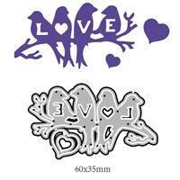 Love Bird Cutting Dies Stencil DIY Scrapbooking Album Stamp Paper Card-S1 BHSLFR