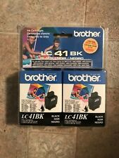 Lot of 2 Brother Black LC41BK LC41 Ink NEW Genuine (Expired)
