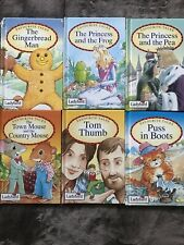 6x Ladybird FAVOURITE TALES books -1993 Tom Thumb,Puss In Boots,The Town Mouse +