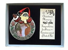 Santa & Me Photo Ornament Christmas Memory Claus Picture New