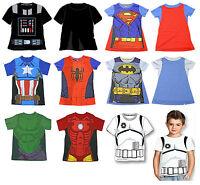 STAR WARS MARVEL AVENGERS SPIDERMAN BATMAN SUPERMAN CHILDRENS T-SHIRT 2yo -7yo